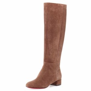 New Christian Louboutin Liliboots Brown Suede 38.5